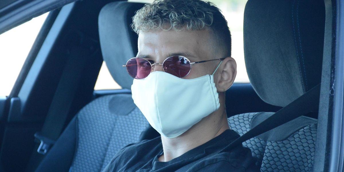 Gauthier Hein, de retour de prêt de Valenciennes, est arrivé masqué pour la reprise. Comme tous ses partenaires et le staff technique.
