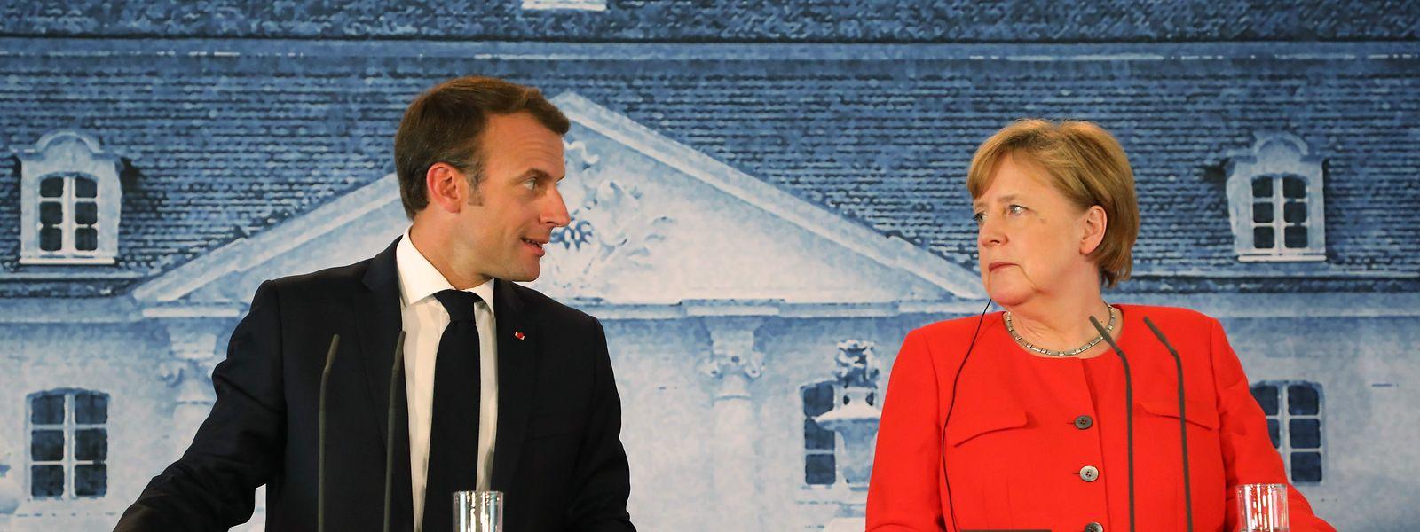Merkel und Macron sind sich, was die Stärkung der EU anbelangt, prinzipiell einig.