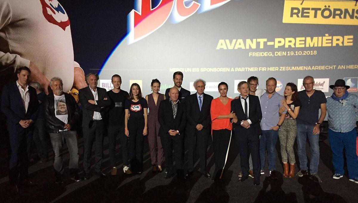 Une fois le générique achevé, l'équipe du film s'est réunie face au public le temps de quelques déclarations.