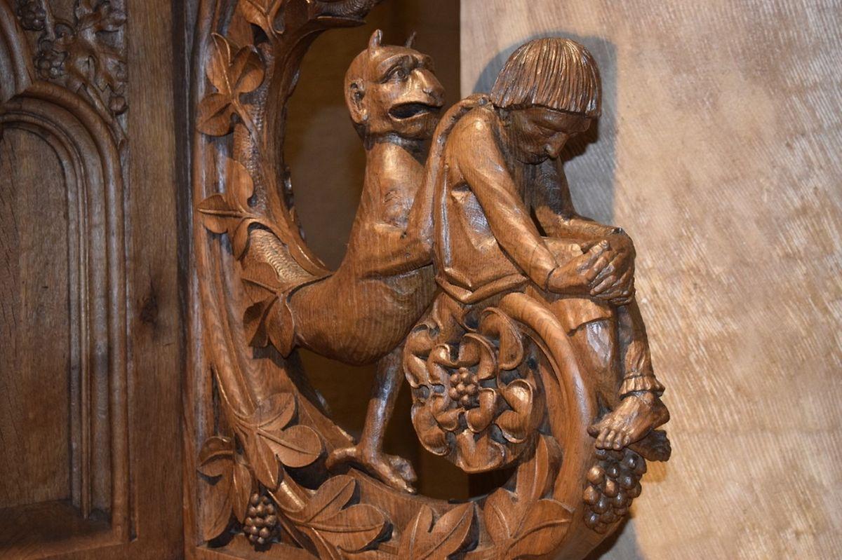 In der Basilika in Echternach können Besucher das Chorgestühl bestaunen.