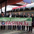 Der offizielle Startschuss der Aktion Autofasten fiel am Mittwoch am Hauptbahnhof.
