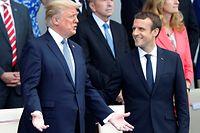 An der traditionellen Militärparade auf den Champs Elysées nahmen auch US-amerikanische Truppen teil, während Donald Trump sich das Spektakel zusammen mit Macron ansah.