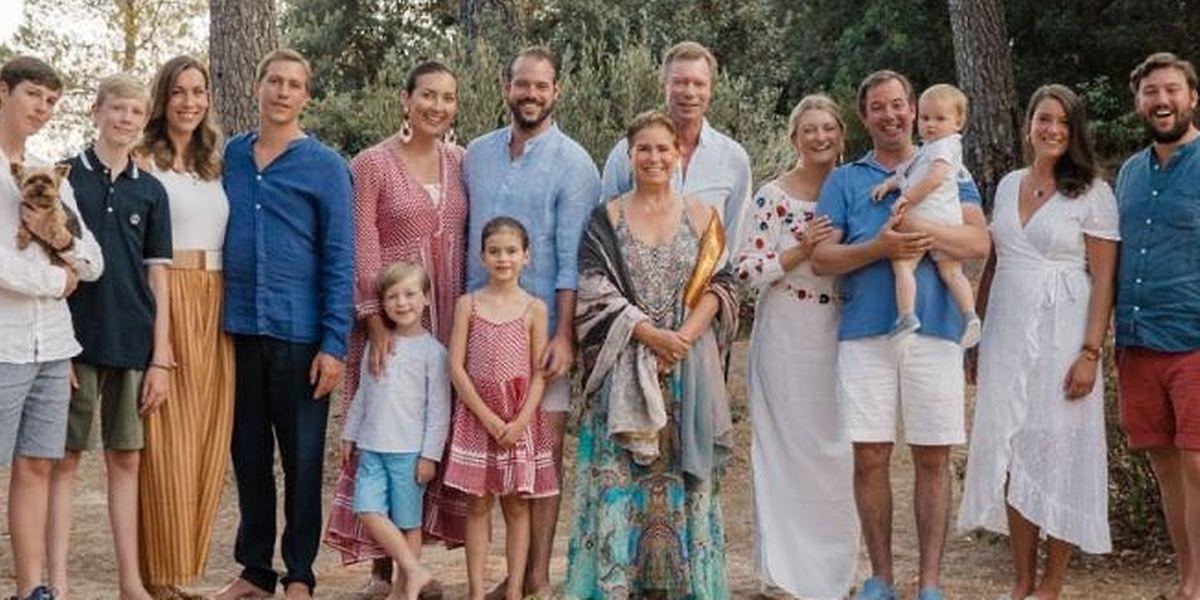 Die großherzogliche Familie in Cabasson.