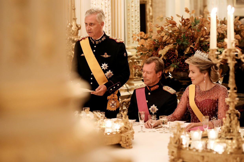 König Philippe bedankt sich für den warmherzigen Empfang.