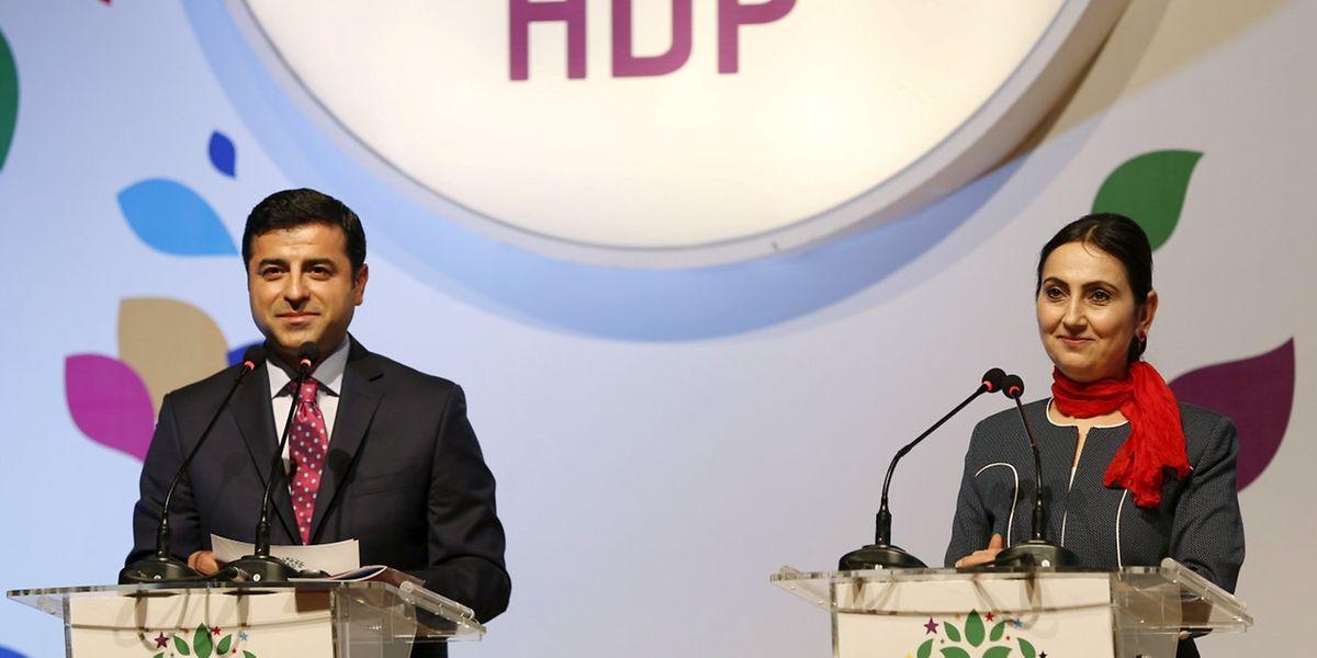 Selahattin Demirtas und Figen Yuksekdag waren die Vorsitzenden der HDP.