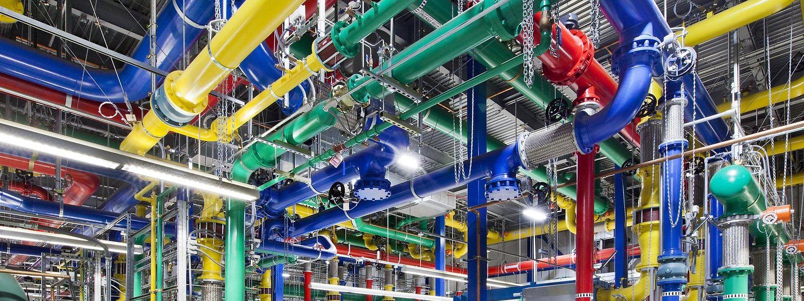 Google betreibt hunderte Rechenzentren weltweit.
