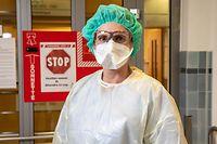 Lok , CHEM Esch , ITV  Krankenschwester Covid Station , Corona ,  Foto:Guy Jallay/Luxembzrger Wort