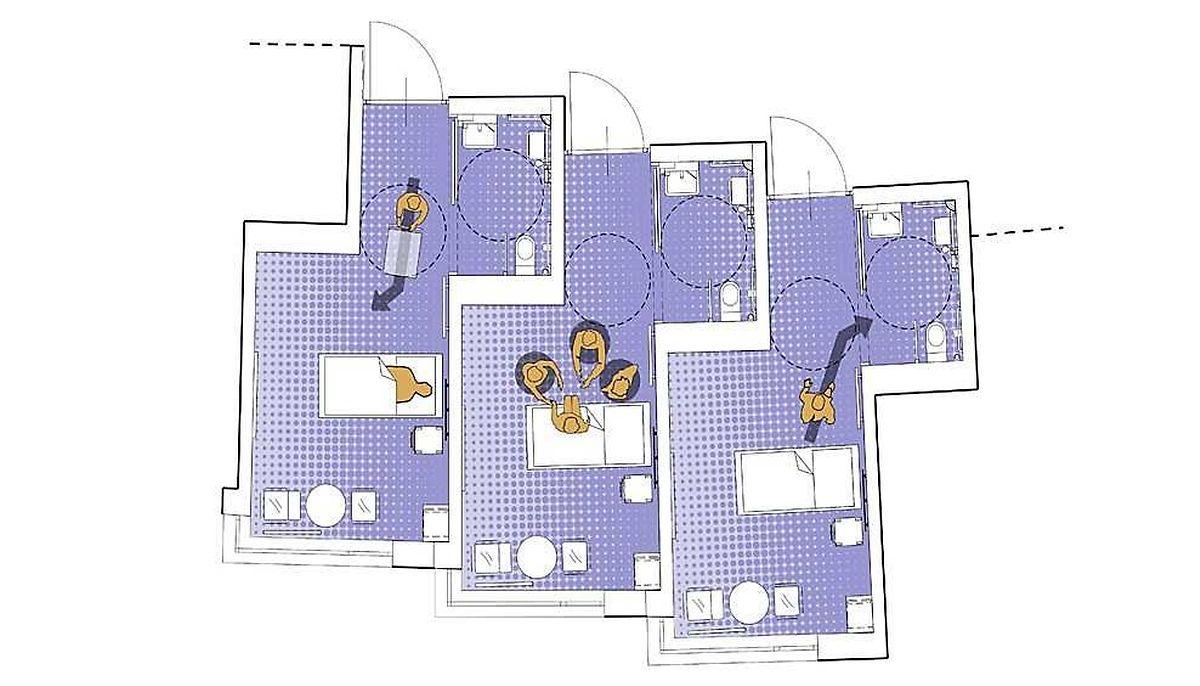 80 Prozent der Zimmer werden Einzelzimmer sein.