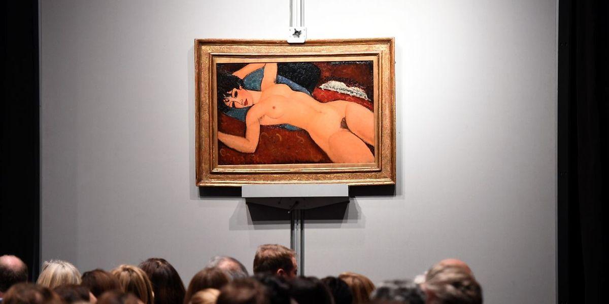 """Noch nie wurde ein Werk von Modigliani für einen so hohen Preis ersteigert wie """"Nu Couché""""."""