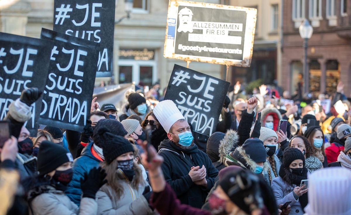Der Horesca-Sektor protestiert.