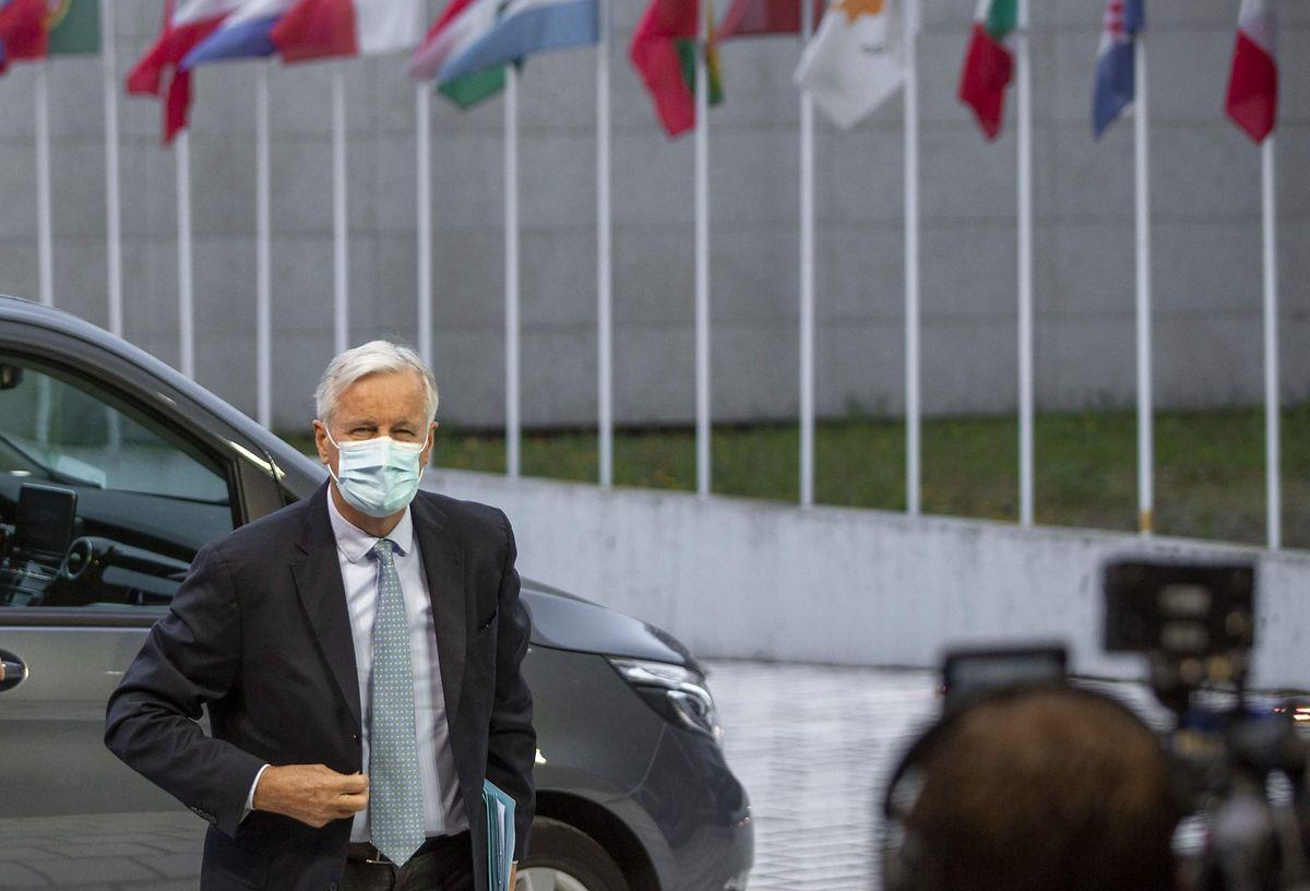 EU-Unterhändler Michel Barnier war am Dienstag für Gespräche in Luxemburg.