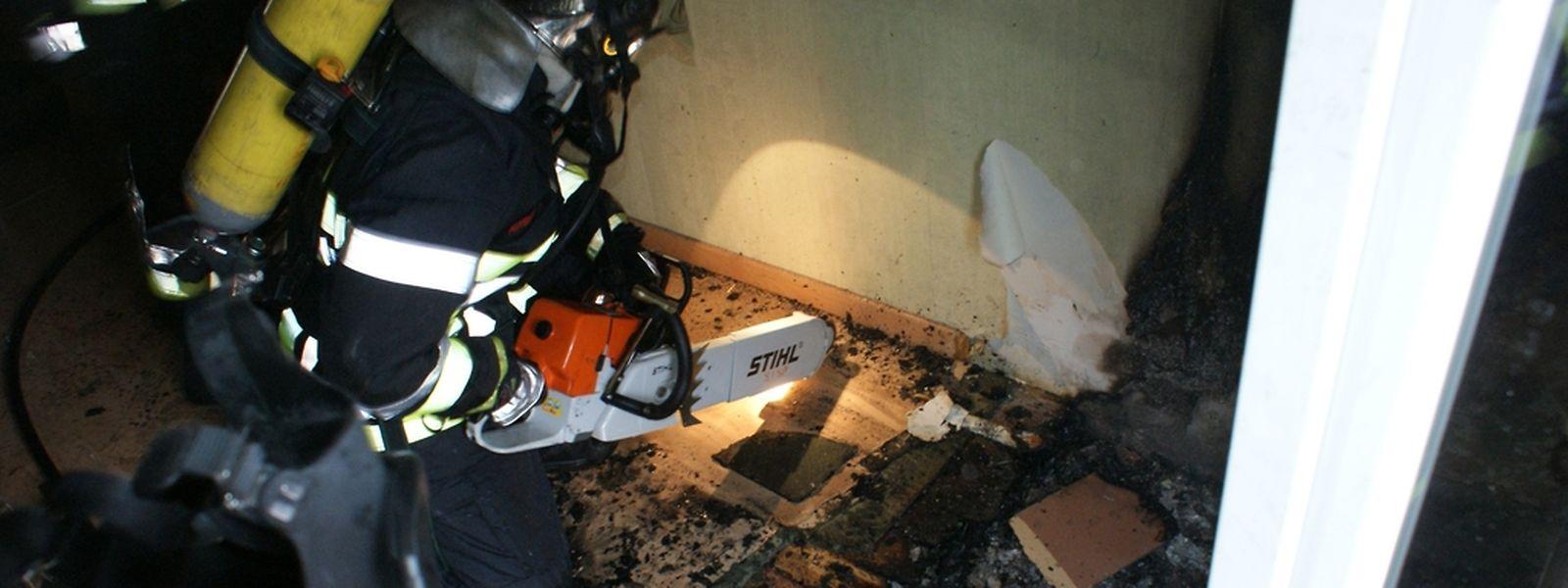 Die Feuerwehr Petingen im Einsatz (Archivbild).