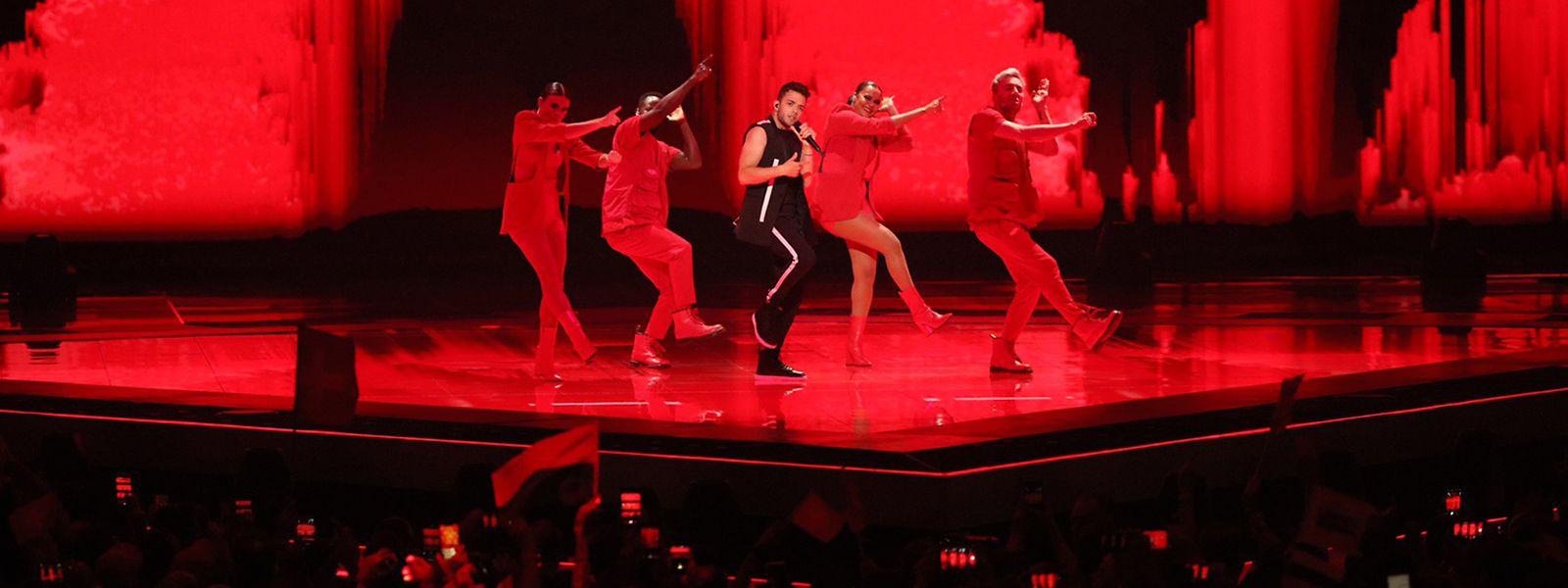 Luca Hänni aus der Schweiz tritt im zweiten Halbfinale des Eurovision Song Contest (ESC) 2019 auf.