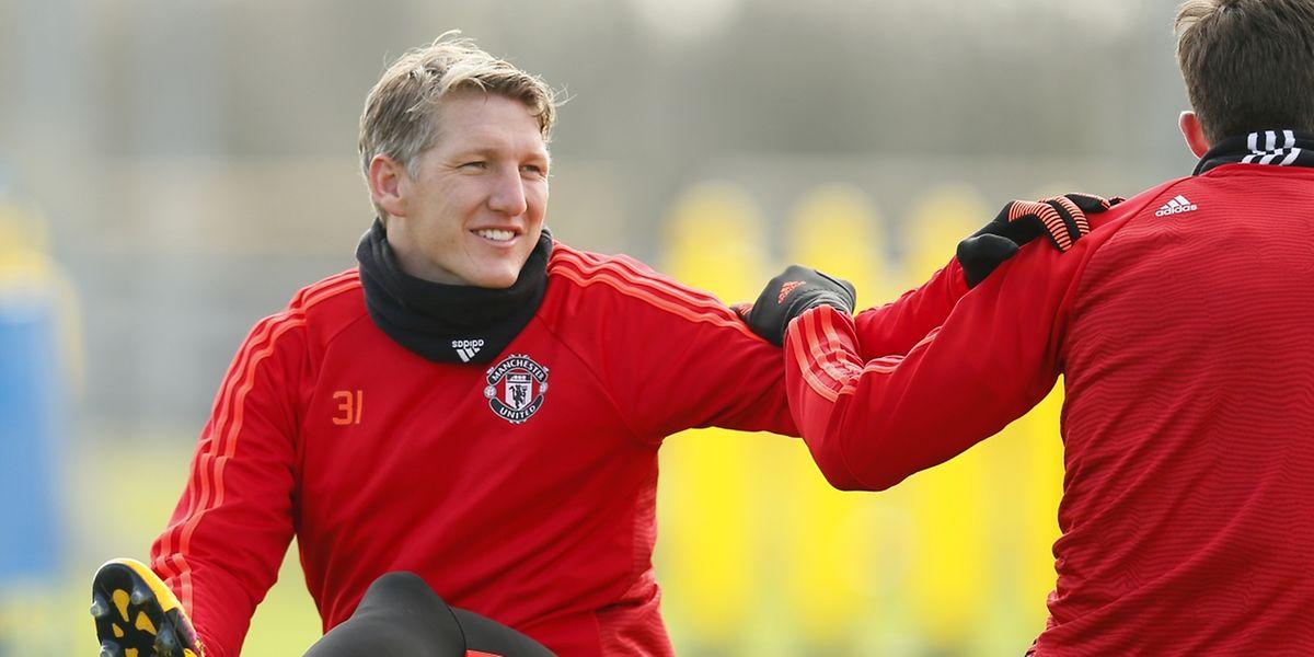 Bastian Schweinsteiger (Manchester United) a le sourire. Et ce jeudi soir à l'issue du match contre Liverpool?
