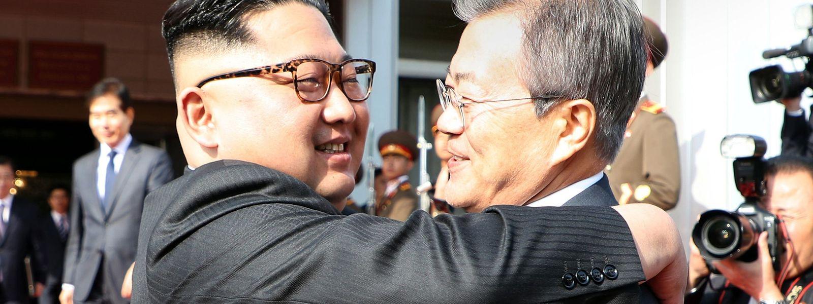 O presidente da Coreia do Sul, Moon Jae-in, voltou a encontrar-se com Kim Jong-un