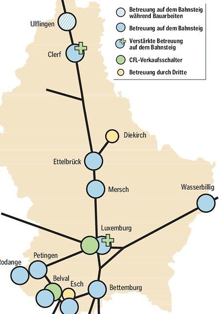 Die Betreuung der Kunden wird sich ab dem kommenden März grundlegend verändern. CFL-Ticketschalter wird es nur noch in Luxemburg-Stadt und in Esch-Belval geben. In Esch/Alzette und in Diekirch übernehmen Dritte den Verkauf.