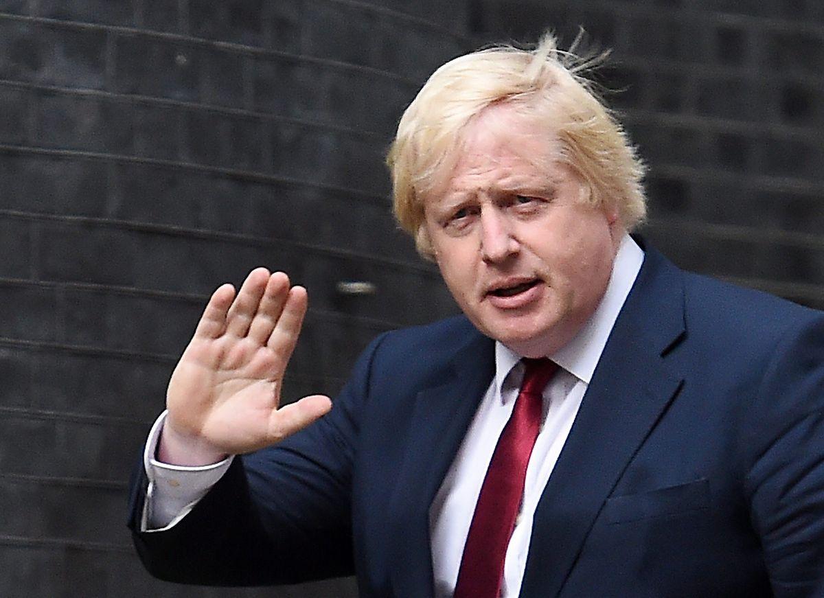 Boris Johnson, der frühere britische Außenminister und Bürgermeister von London, hat den offenen Brief an die Premierministerin mit verfasst.