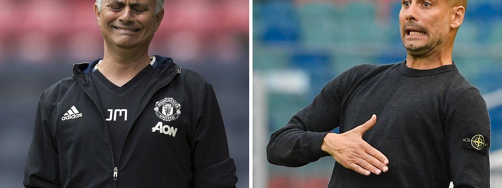 José Mourinho und Pep Guardiola treffen am Samstag aufeinander.
