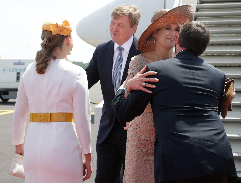 Im Mai 2018 waren König Willem-Alexander und Königin Maxima zu Gast in Luxemburg. Am Flughafen Findel wurden das Paar von Erbgroßherzog Guillaume und Erbgroßherzogin Stéphanie empfangen.
