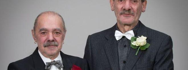 Henri e Jean-Paul casaram no dia 1 de Janeiro