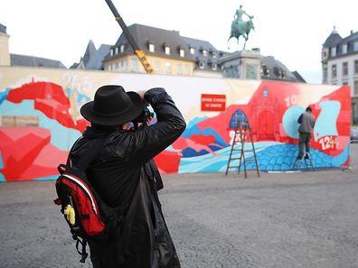 Projet artistique Noël, Place Guillaume II / Foto: Steve EASTWOOD