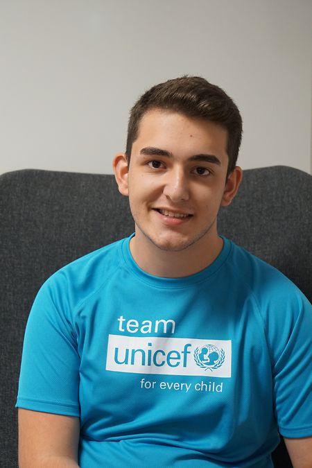 Luis, Jugendbotschafter bei Unicef Luxemburg.