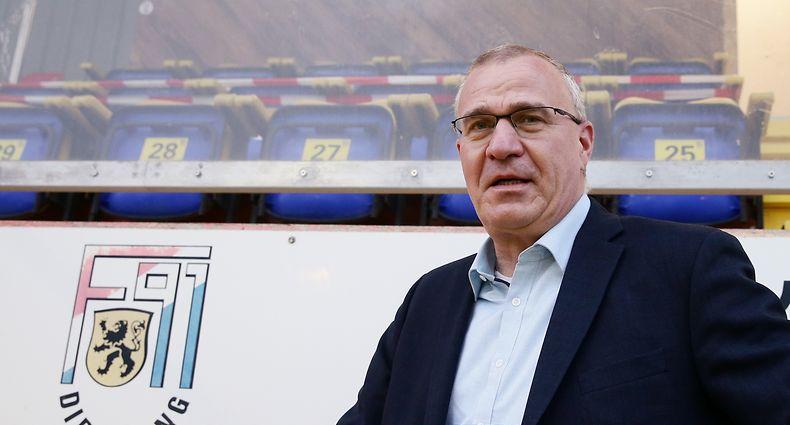 Fussball BGL Ligue Gerry SCHINTGEN Präsident des F91 Dudelingen 21.10.2020