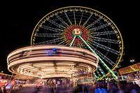 Lokales, Schueberfouer 2019, Schobermesse, Nachtaufnahme, Foto: Claude Windeshausen
