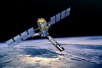 ESA's Soil Moisture and Ocean Salinity (SMOS) satellite which will make global observations of soil moisture over Earth's landmasses and salinity over the oceans