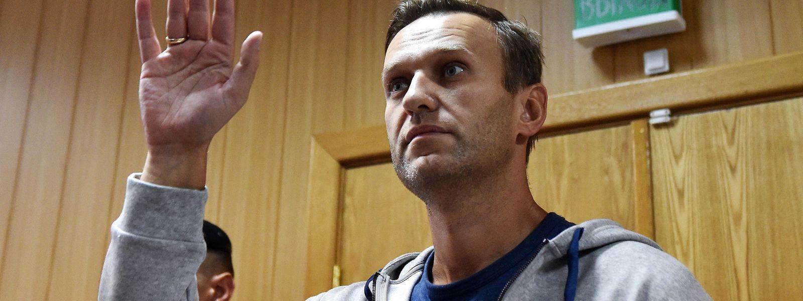 Alexej Navalny im August 2018 vor Gericht.