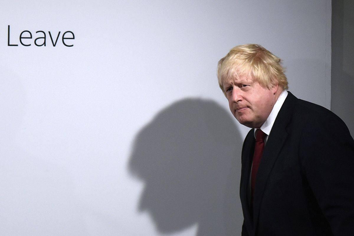 "Foto vom 24. Juni 2016: Boris Johnson bei einer ""Vote Leave"" Pressekonferenz in London."