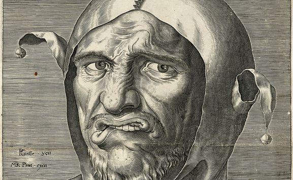 "Galle, Philips (1537–1612): ""Tête d'un bouffon"""