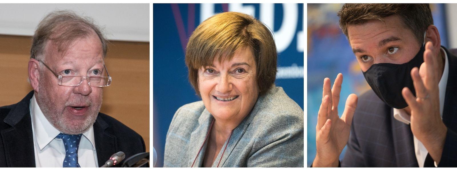Alain Rix, Michèle Detaille und Lex Delles (v.l.) sind nur drei der Persönlichkeiten, die es mit einem Zitat in unseren Jahresrückblick geschafft haben.