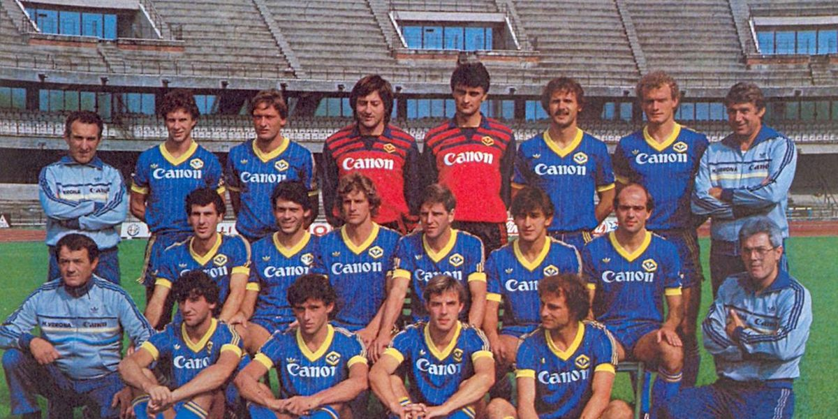 Hella Vérone, champion d'Italie surprise en 1985, avec son Danois Preben Larsen et son Allemand Hans-Peter Briegel