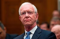 "Former airline captain, Chesley ""Sully"" Sullenberger looks on during an aviation subcommittee hearing on ""Status of the Boeing 737 MAX: Stakeholder Perspectives."" at the Capitol in Washington, DC on June 19, 2019. (Photo by ANDREW CABALLERO-REYNOLDS / AFP)"