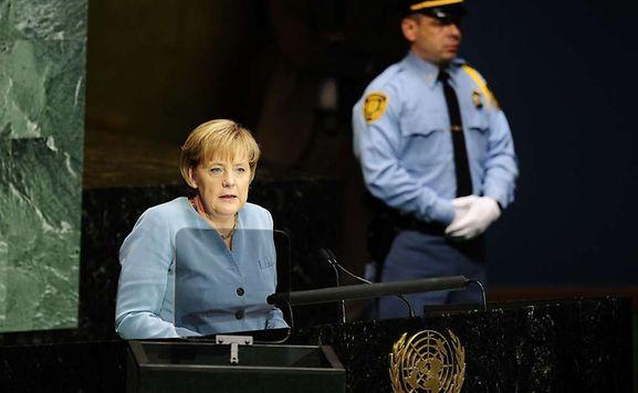 Ziel ihrer Wünsche: Bundeskanzlerin Angela Merkel im September 2010 vor der UN-Vollversammlung anlässlich des Millenniums-Gipfels.