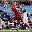 A Dinamarca estreou-se no  Mundial a ganhar frente ao Peru.