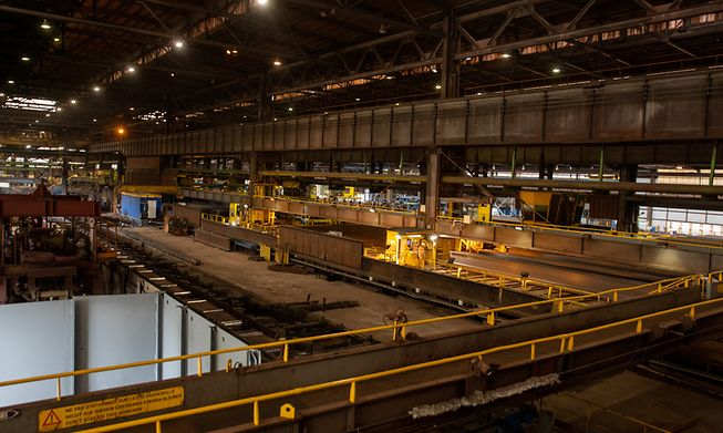 The ArcelorMittal steel plant in Differdange