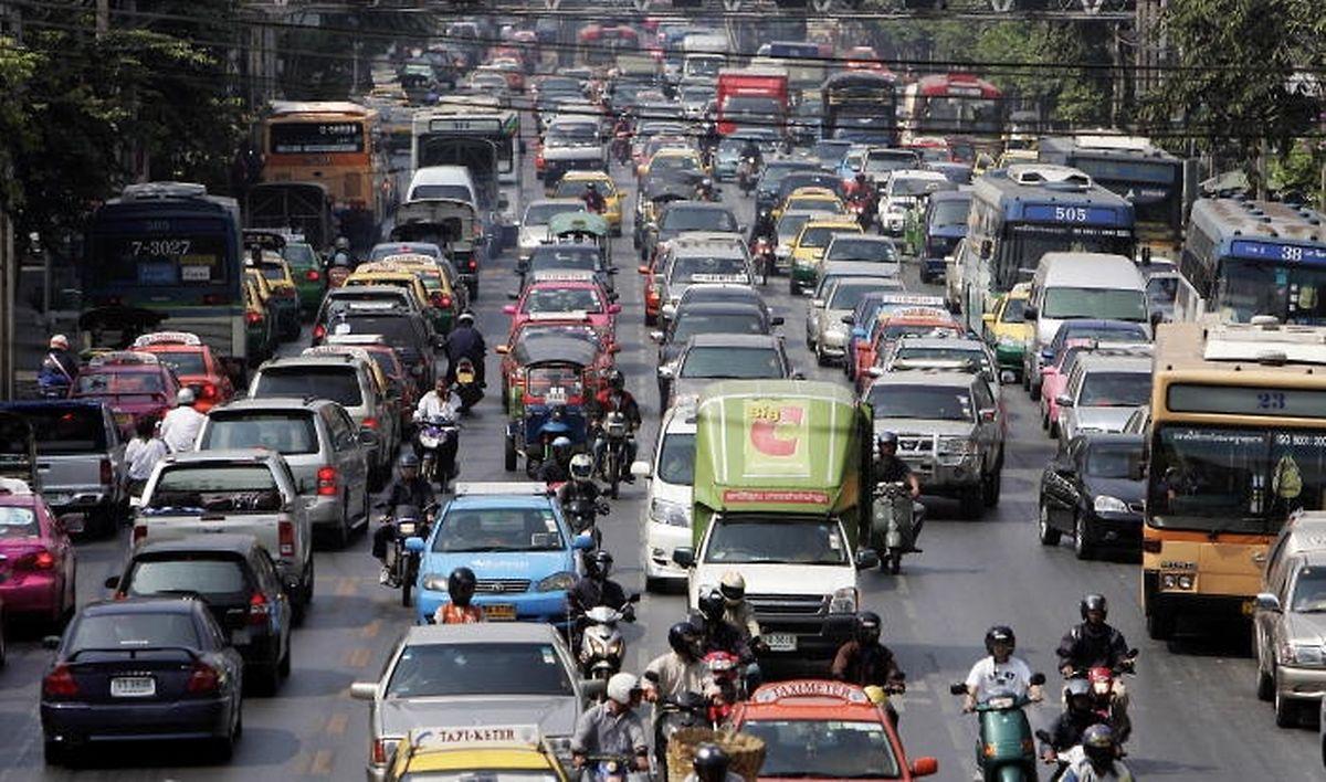 Staus gehören in Bangkok zum Alltag.