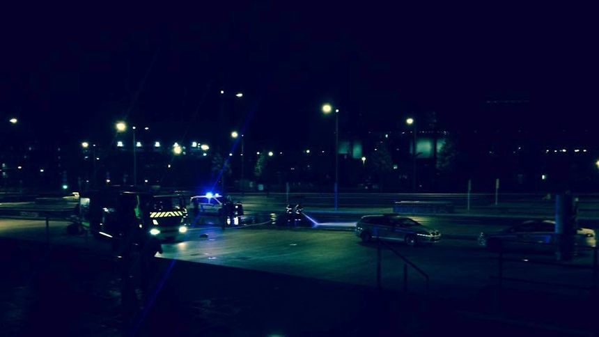 This photo of police arriving was provided by the collective to the Luxemburger Wort