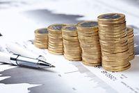 Geld, Cash, Euromünzen, Wirtschaft, Kugelschreiber, Münzen, Euro, Inflation