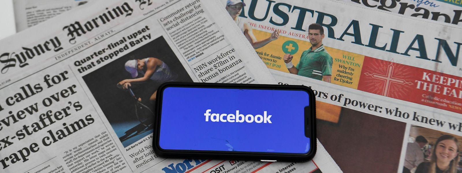 Australische Facebook-Nutzer können keine nationalen oder internationalen journalistischen Inhalte mehr teilen.