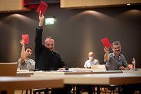 IPO,Kongress Déi Lénk.Marc Baum.Foto: Gerry Huberty/Luxemburger Wort