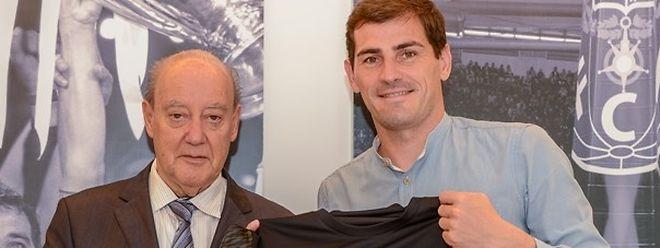 Pinto da Costa e Iker Casillas acertaram renovação
