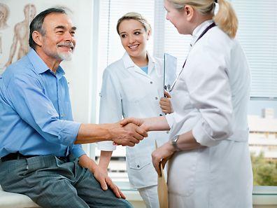 Gut wenn alles vorbei ist. Männer mögen Arztbesuche gar nicht gern.