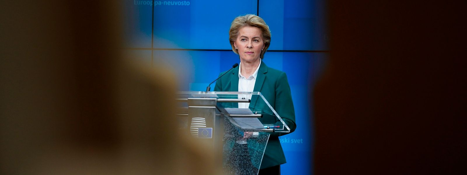 Ursula von der Leyen gab sich während der Pressekonferenz entschlossen.