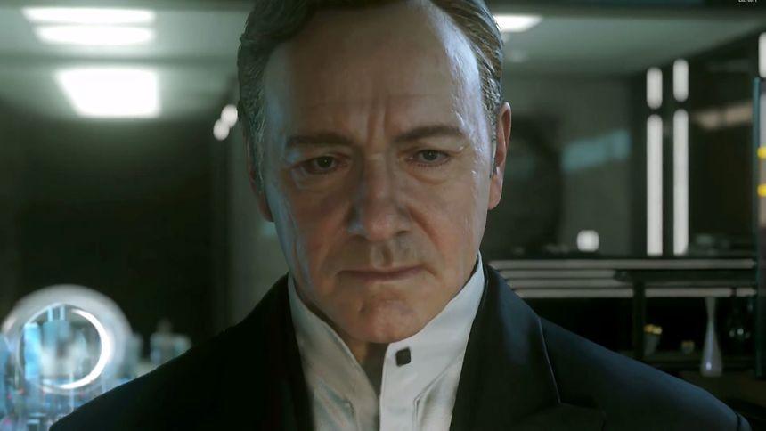 "Hollywoodstars tauchen immer öfter in Spielen auf: Hier Kevin Spacey in ""Call of Duty: Advanced Warfare""."