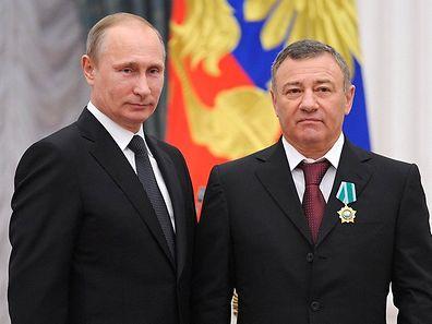 Vladimir Poutine et Arkady Rotenberg