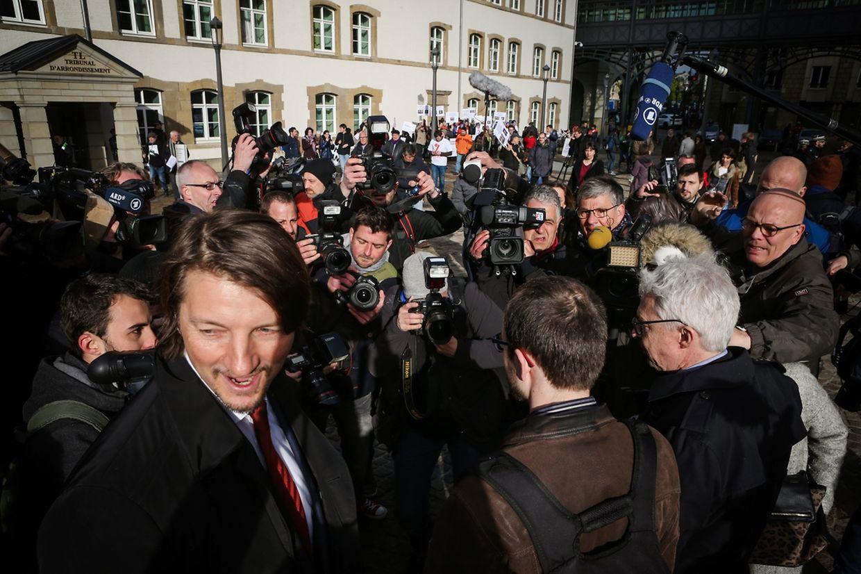 Antoine Deltour est arrivé ce mardi matin au tribunal luxembourgeois