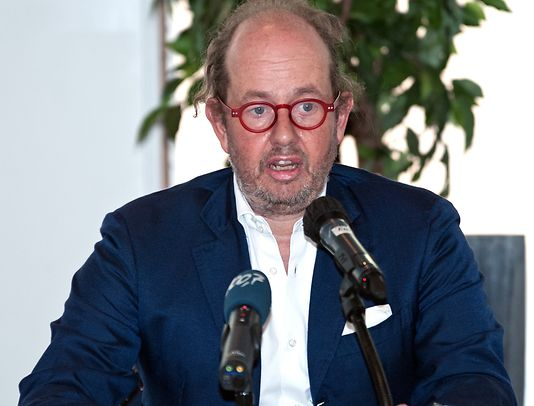 The Chairman of the Board of Hôpitaux Robert Schuman, Jean-Louis Schiltz, at the press conference on Thursday